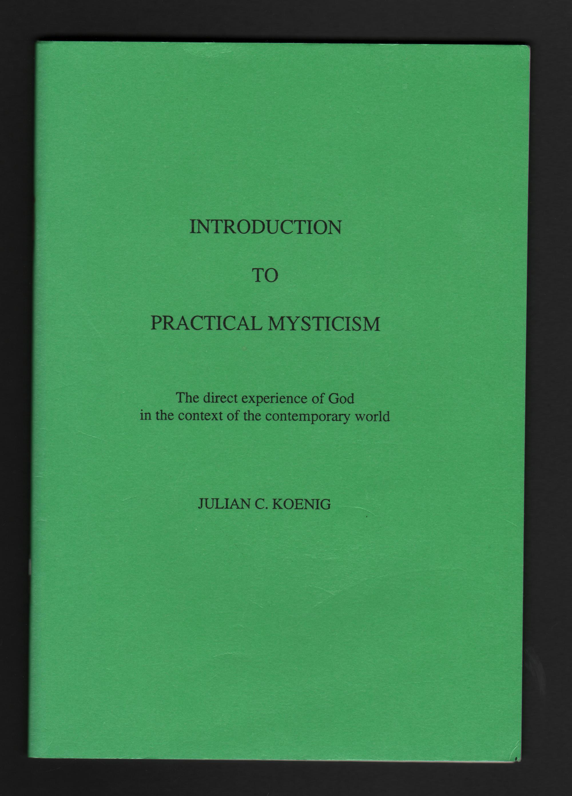 Image for Introduction to Practical Mysticism.