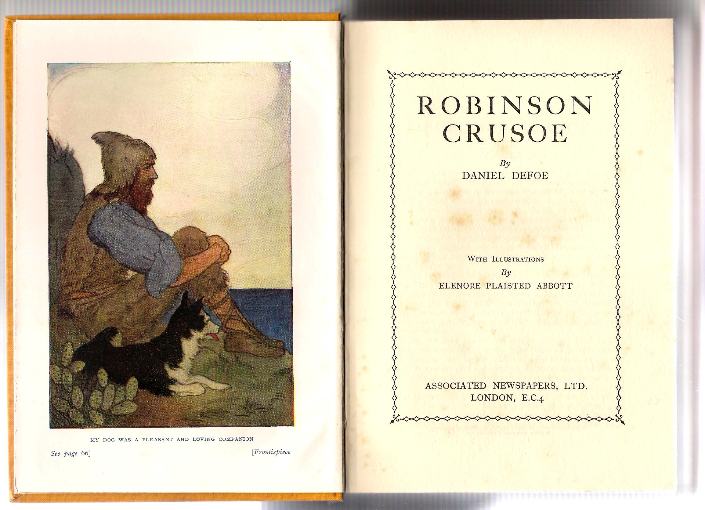Image for Robinson Crusoe. (With Illustrations by Elenore Plaisted Abbott).