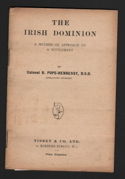 Image for The Irish Dominion: A Method of Approach to a Settlement.