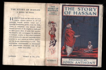 The Story of Hassan (Hassan Ali Shah): A Novel of India written by Himself and Englished by John Anthony.