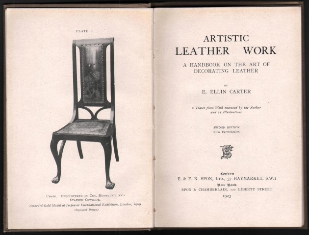 Image for Artistic Leather Work. A Handbook on the Art of Decorating Leather.