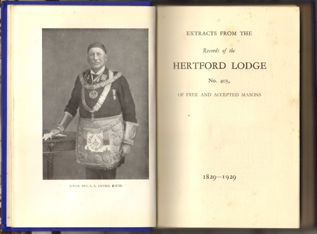 Image for Extracts from the Records of the Hertford Lodge No. 403, Of free And Accepted Masons 1829 -1929 .