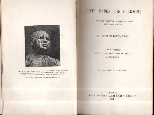 Image for Egypt Under The Pharaohs. A History Derived Entiely from The Monuments By Heinrich Brugsch-Bey. A New Edition Condensed And Thoroughly Revised By M. Brodrick. with Maps, Plans, And Illustrations.
