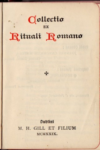 Image for Collectio Ex Rituali Romano .