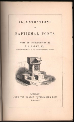 Image for Illustrations of Baptismal Fonts.