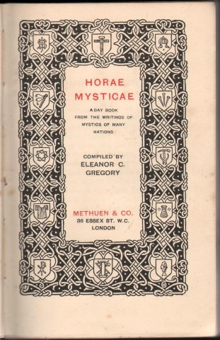 Image for Horae Mysticae: A Day Book from the Writings of Mystics from Many Nations.