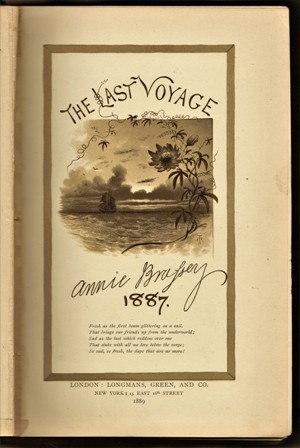 "Image for The Last Voyage To India And Australia In The ""Sunbeam."" By The Late Lady Brassey. Illustrated By R.T. Pritchett  And From Photographs."
