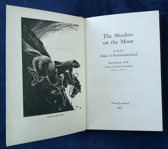 Image for The Shadow on the Moor.  By the late Duke of Northumberland.  Illustrated by 'B.B.' Denys Watkins-Pitchford.
