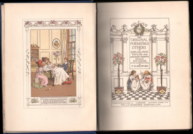 Image for The Original Poems and Others. (Illustrated by F.D.Bedford).