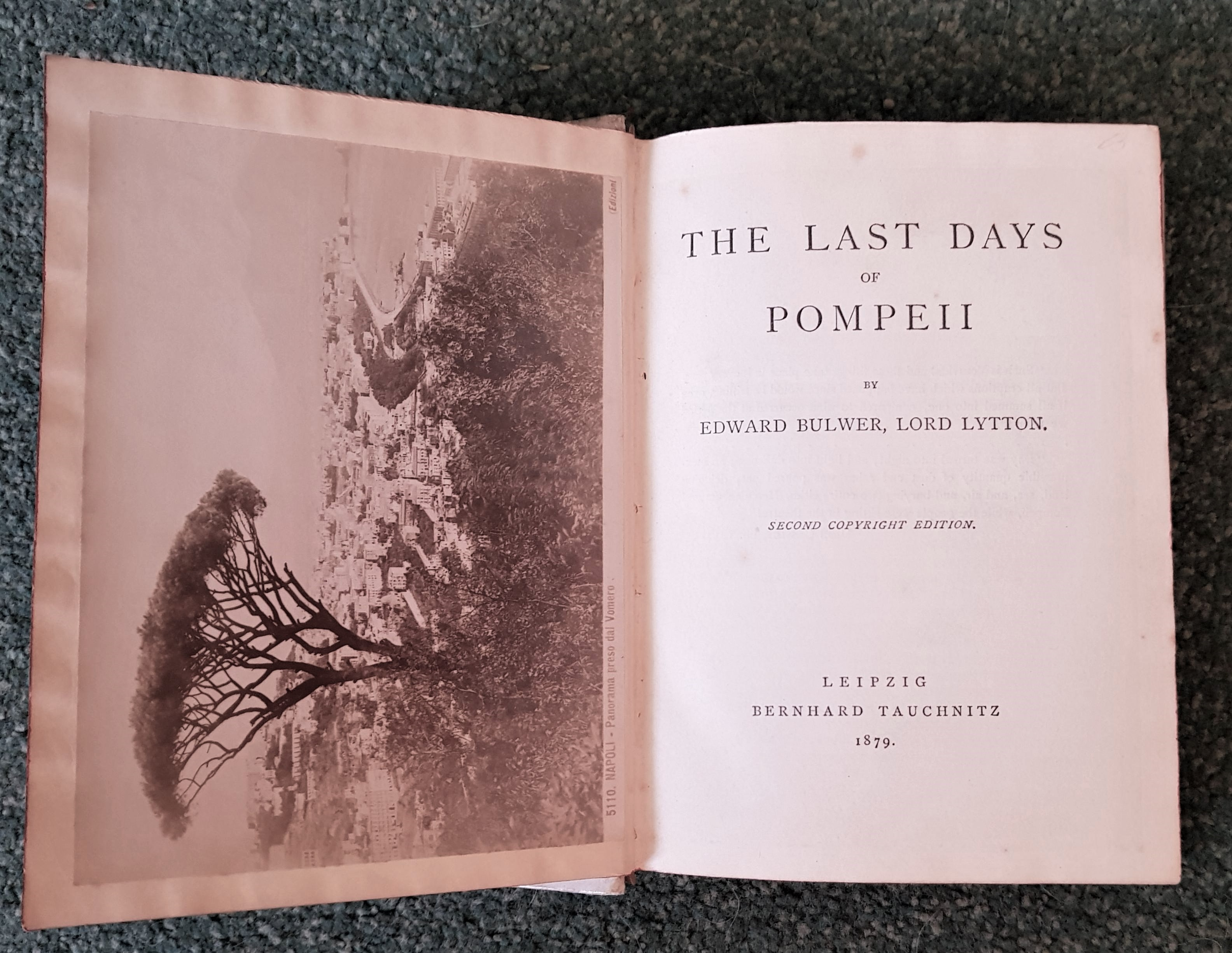 Image for The Last Days Of Pompeii. Second Copyright Edition.