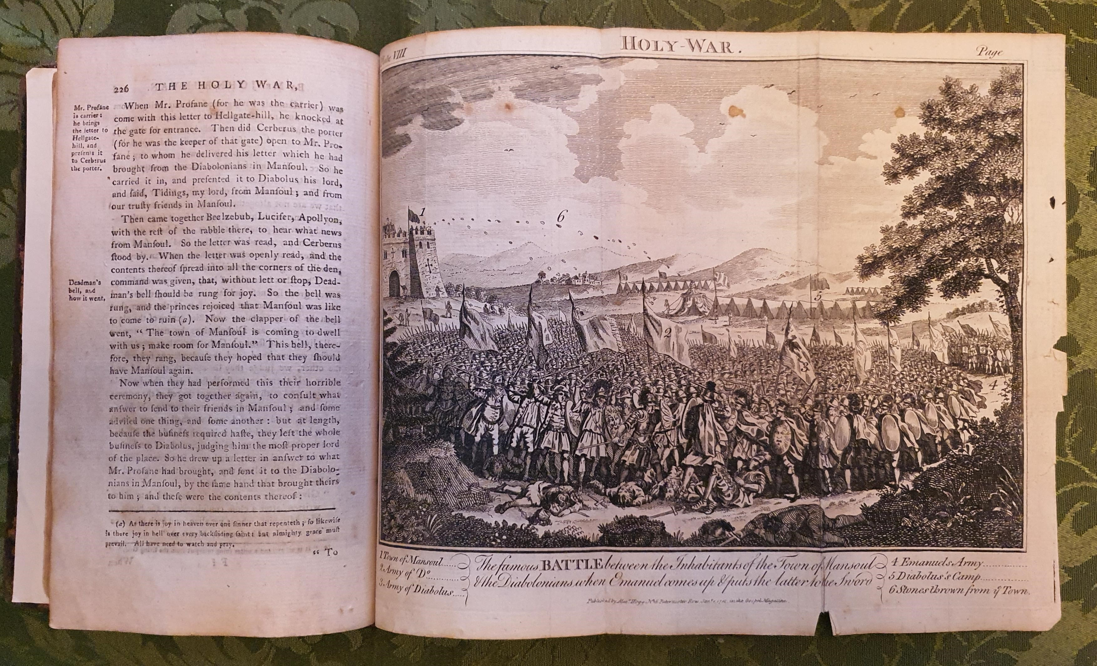 Image for The Holy War made by Shaddai upon Diabolus. For the Regaining of the Metropolis of the World or the Losing and Taking again of the town Mansoul. By Mr. John Bunyan... New and Correct Edition Illustrated with Notes... By W. Mason