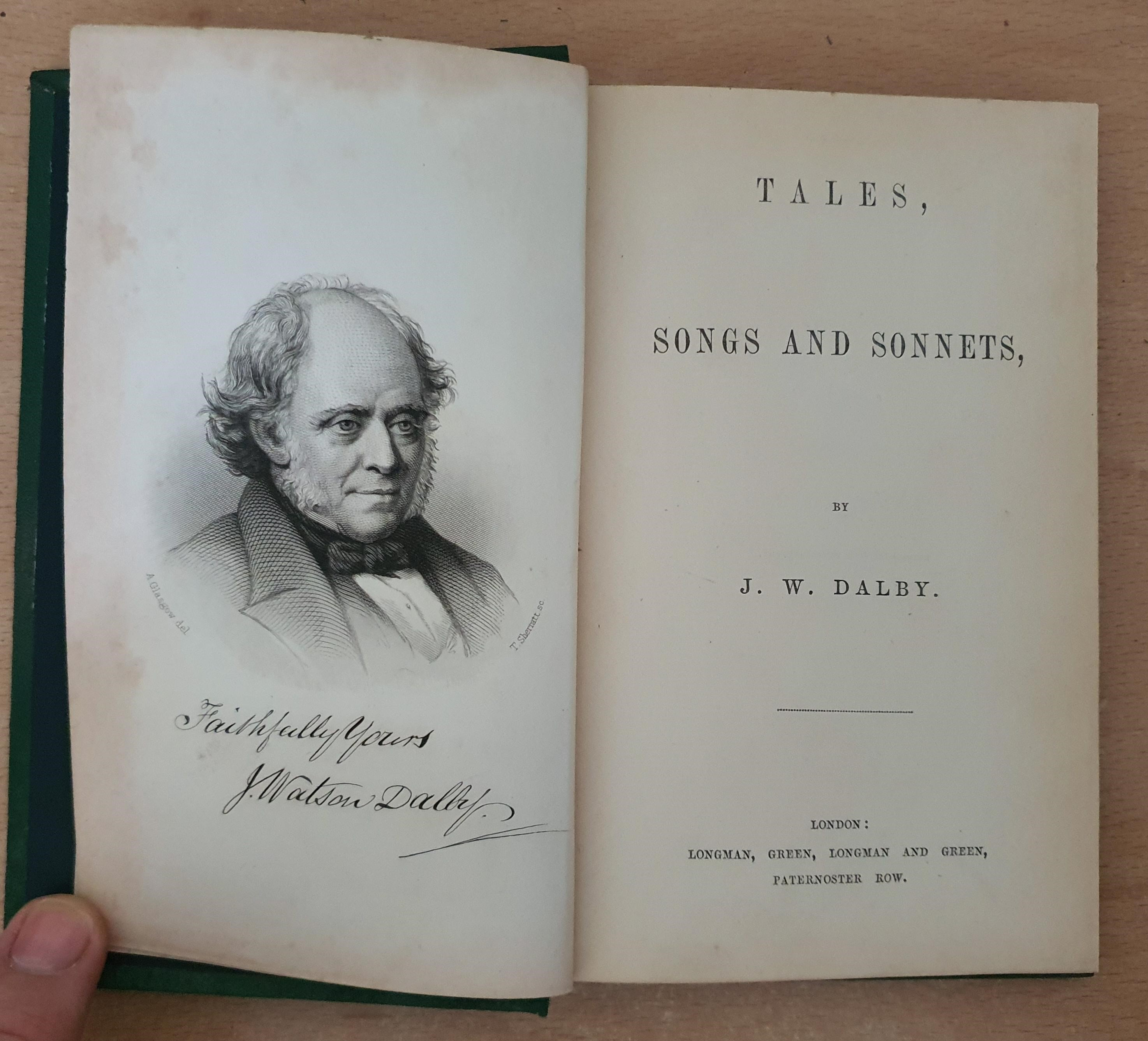 Image for Tales, Songs And Sonnets, By J. W. Dalby.