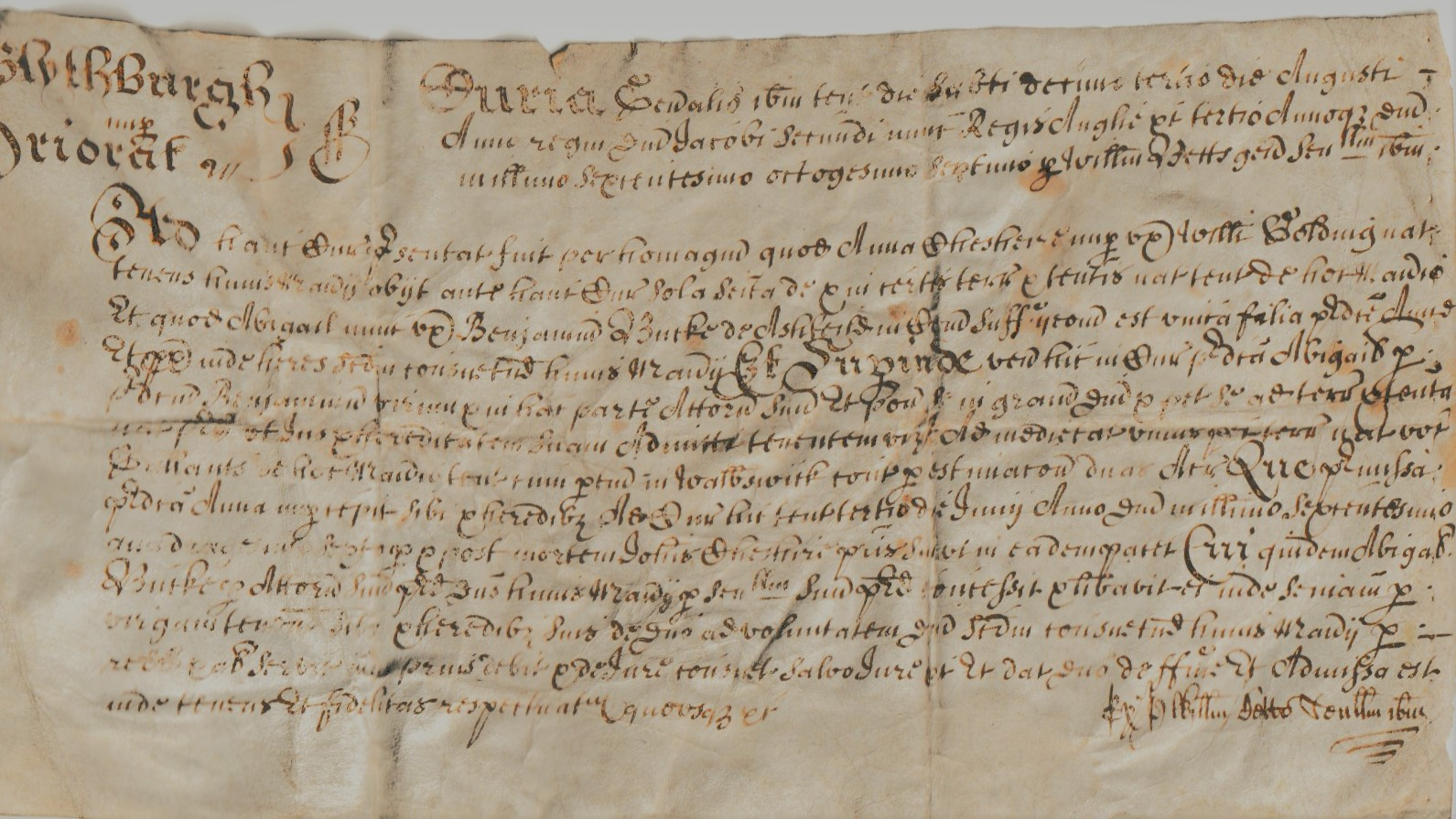 Image for Admission Document Blythburgh Priory for Abigail Burke