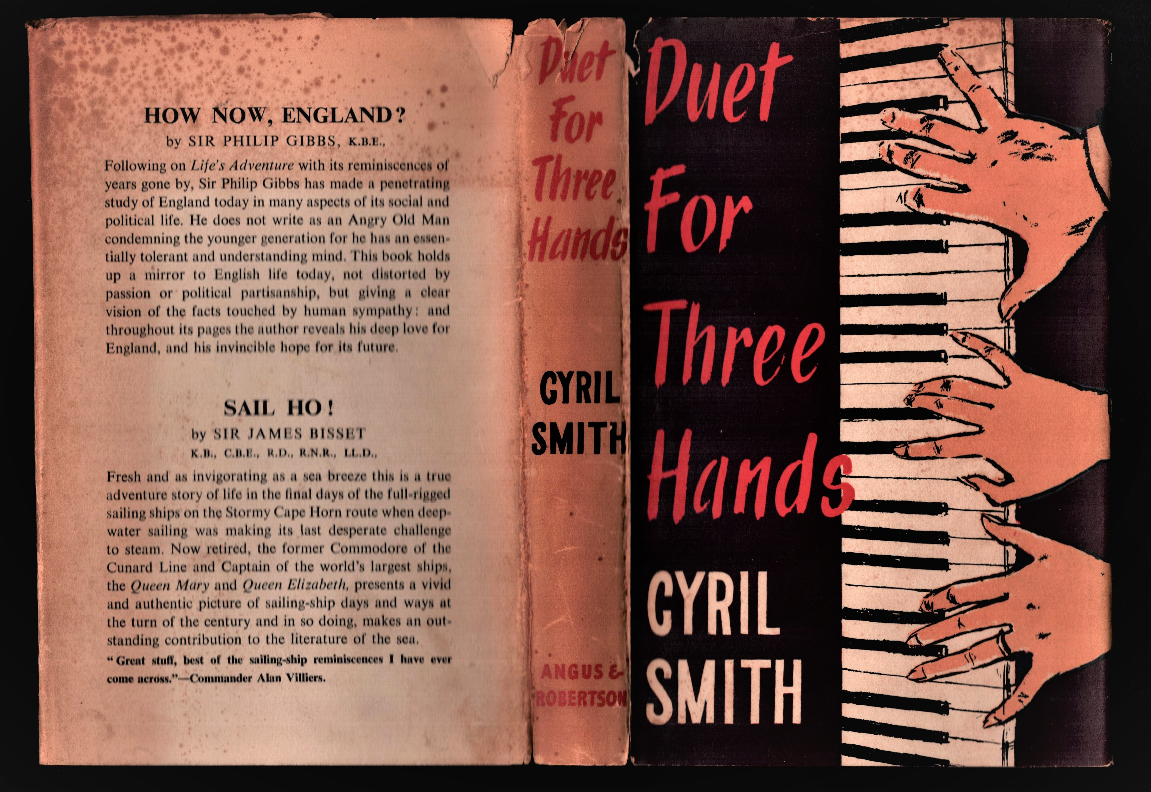 Image for Duet for Three Hands. (as told to Joyce Egginton). (Signed)