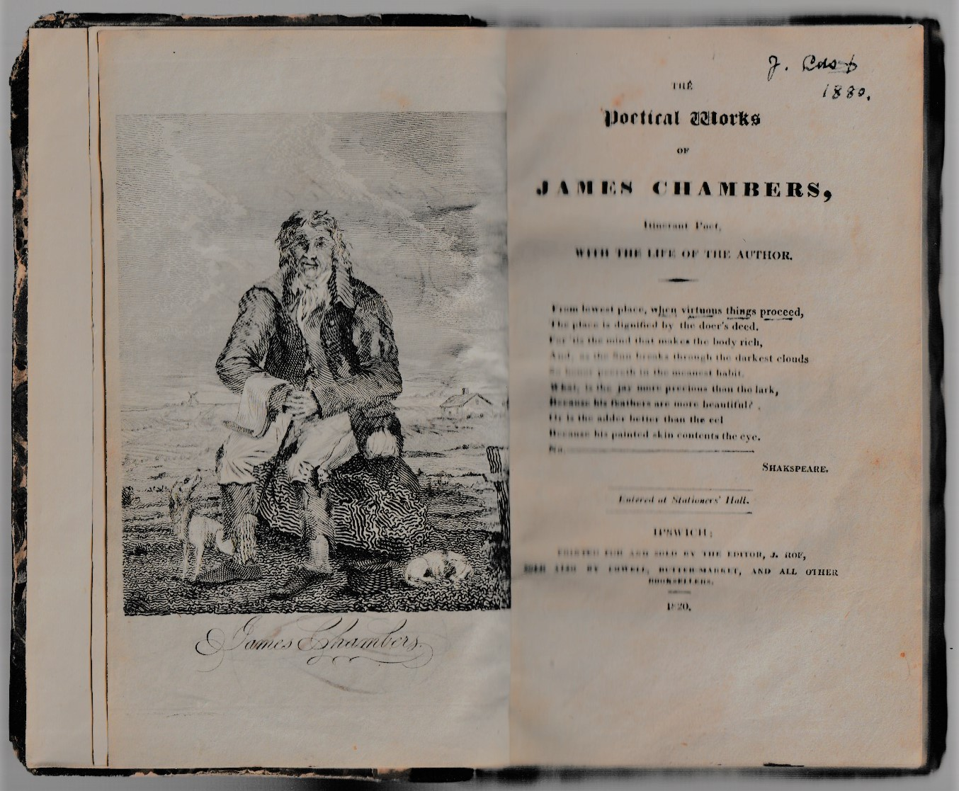 Image for The Poetical Works of James Chambers, Itinerant Poet, with the Life of the Author.