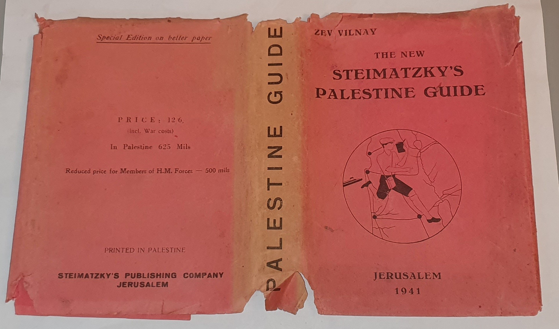 Image for Steimatzky's Palestine Guide.