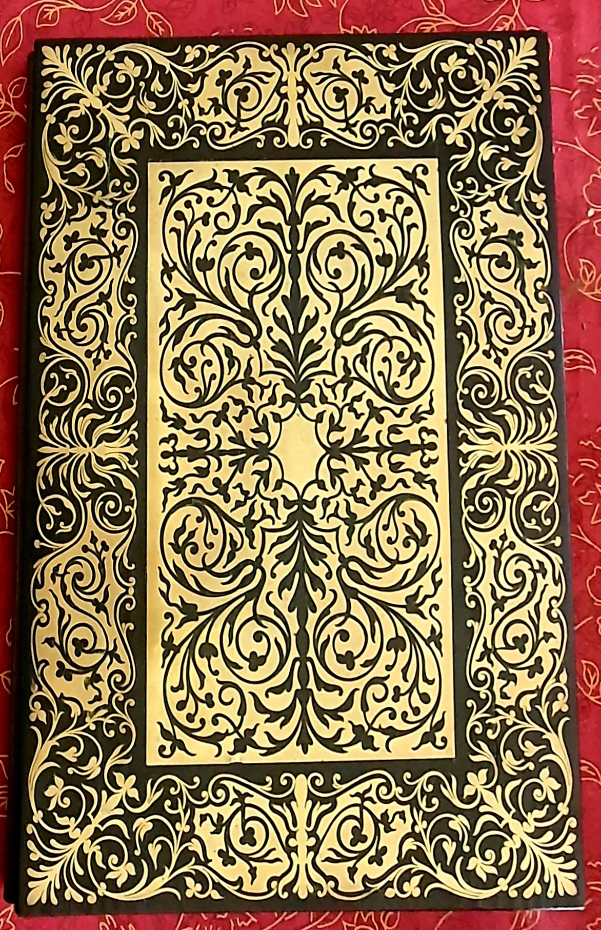 Image for 19th century brass boulle work and rosewood folder with foliate decoration,