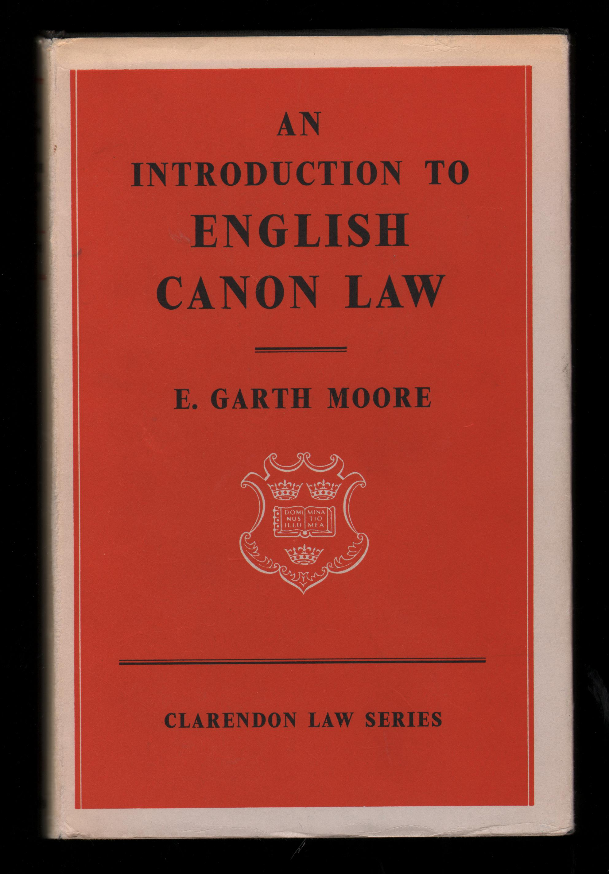 Image for An Introduction to English Canon Law.