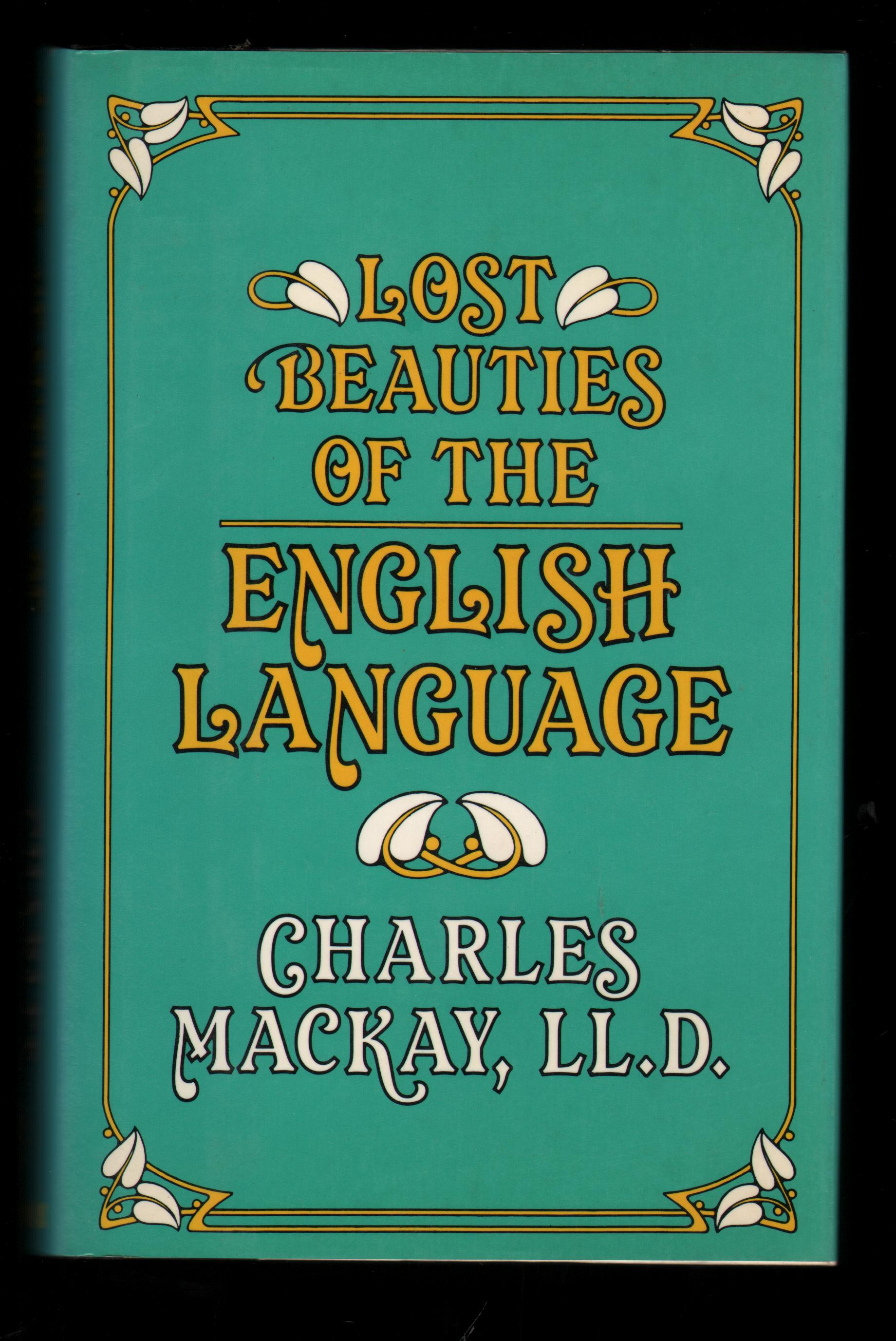 Image for Lost Beauties of the English Language.